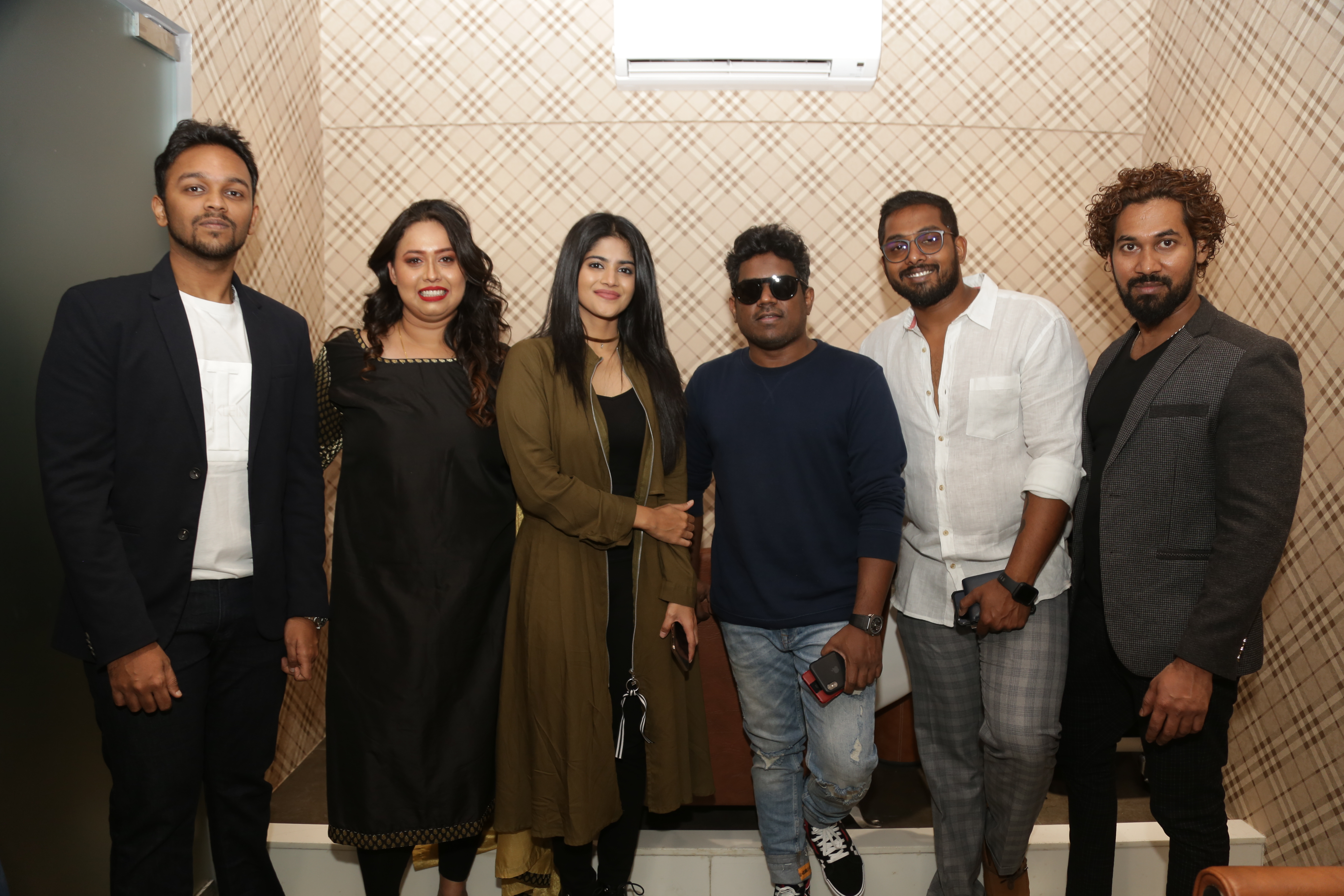 Megha Akash & Yuvan Sharkar Raja along with owner Swetha Sada and her partners