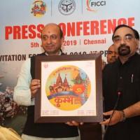 Shir .Jai Pratap Singh presenting momentum to Mr.T.R.Kesavan, Co Chairman, FICCI