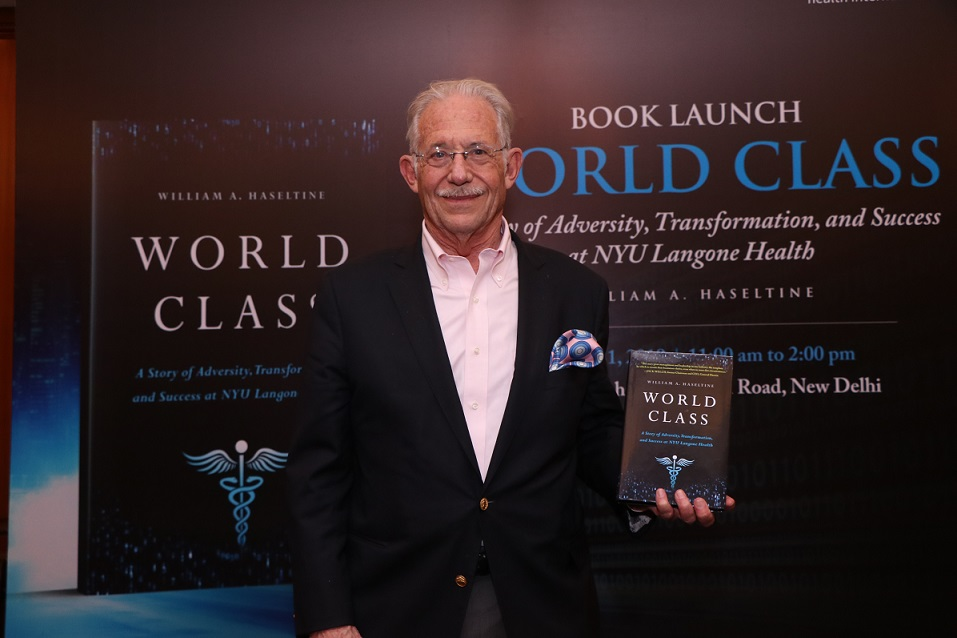 Author Dr William Haseltine at the launch of his book World Class
