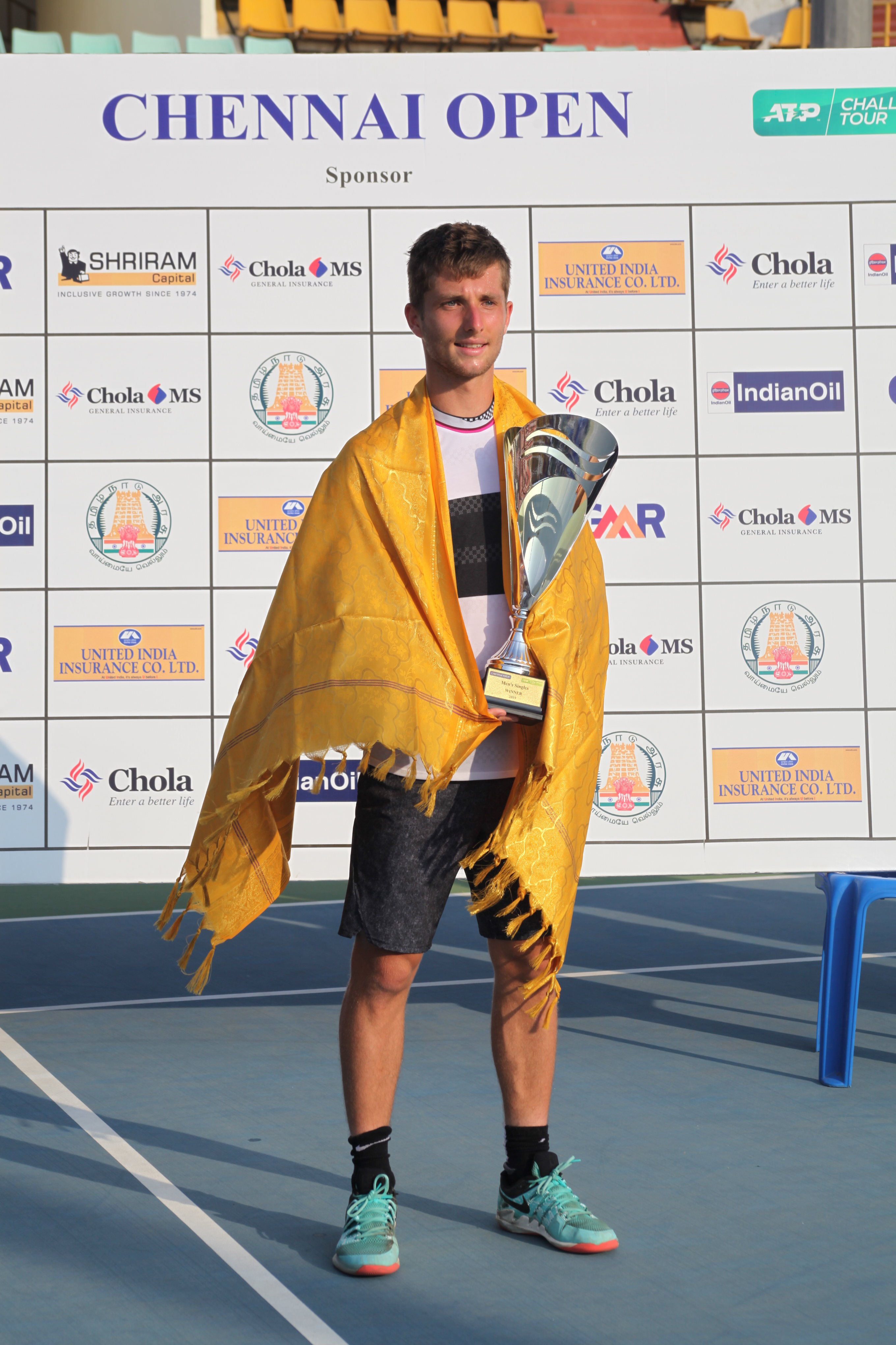 Men's Singles Winner -Corentin Moutet (FRA)