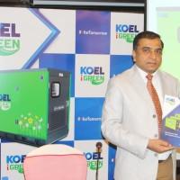 Mr Sanjeev Nimkar - COO, Kirloskar Oil Engines Limited launched KOEL iGreen genset in Chennai