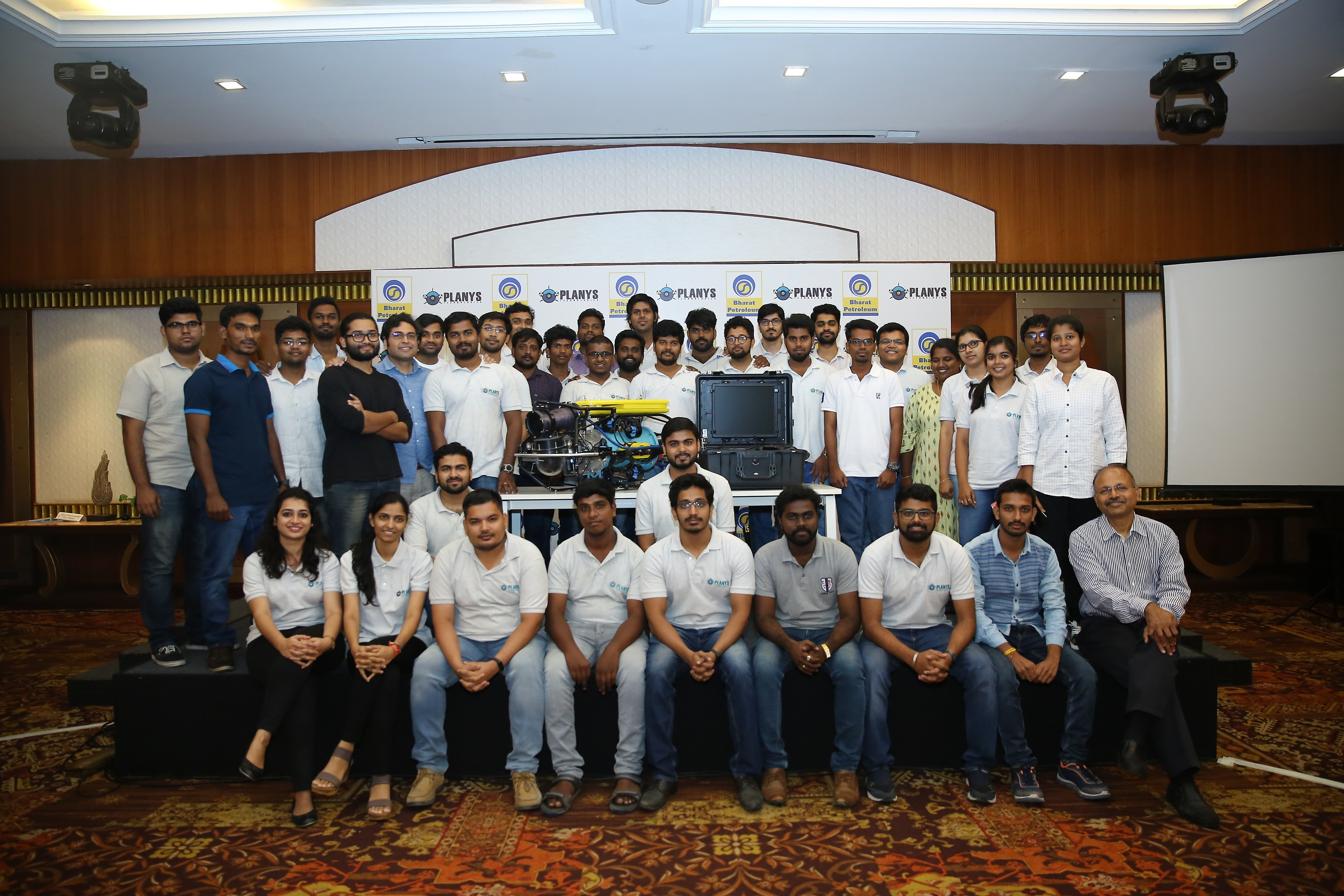 The Planys Team at the launch of India's first underwater ROV, MIKROS