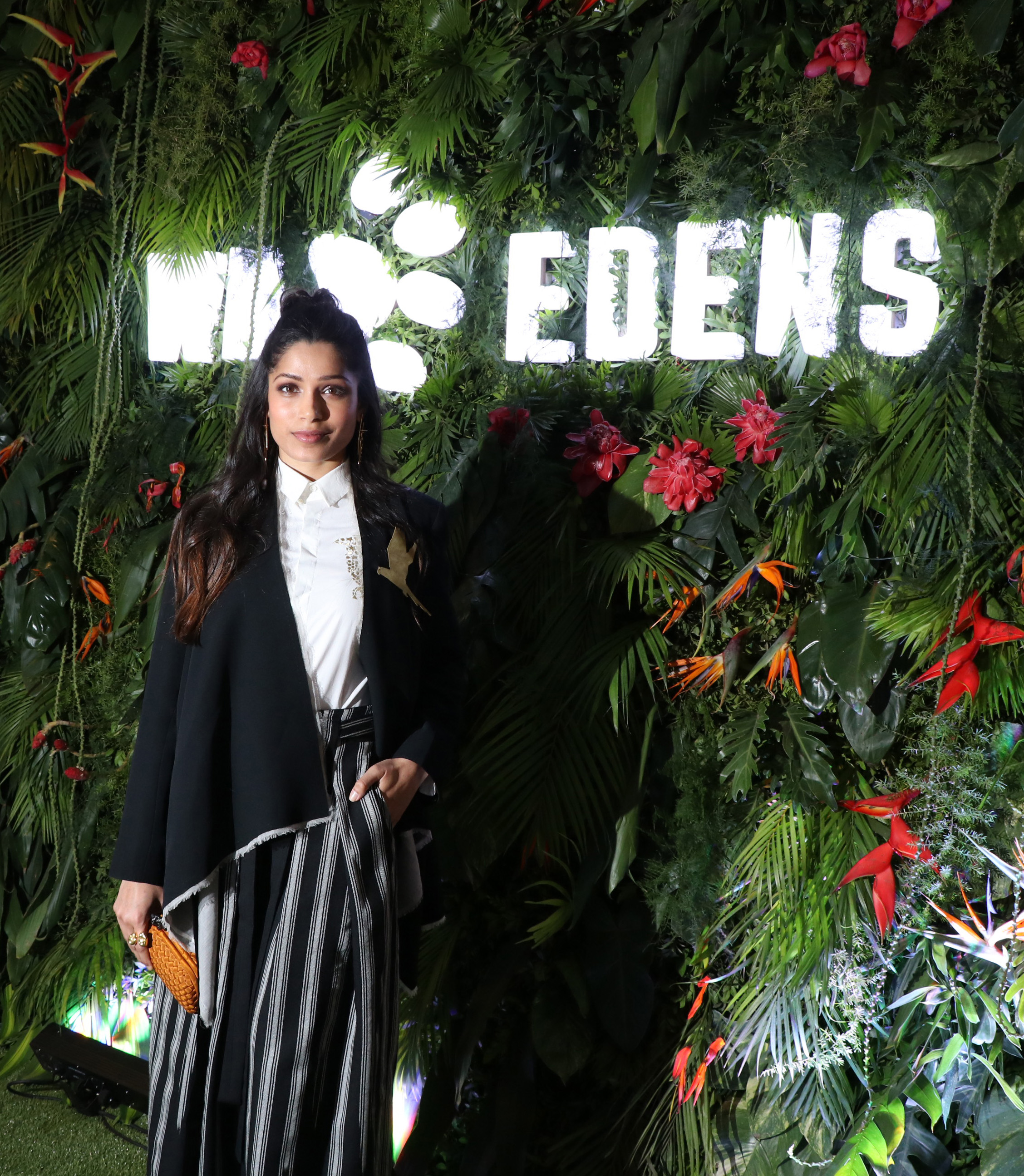 Wild Edens project Ambassador, actress and activist Freida Pinto at the premeire screening of 'Wild Edens_ South Asia' Documentary