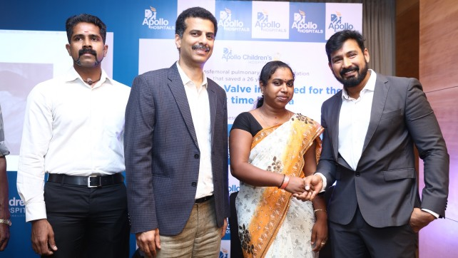 Apollo Hospitals Successfully Completes A Transfemoral Pulmonary Valve Implantation With An Indian Made Valve For The First Time In India