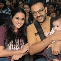 Sriranjanji Sundaram - key note speaker with her husband and baby