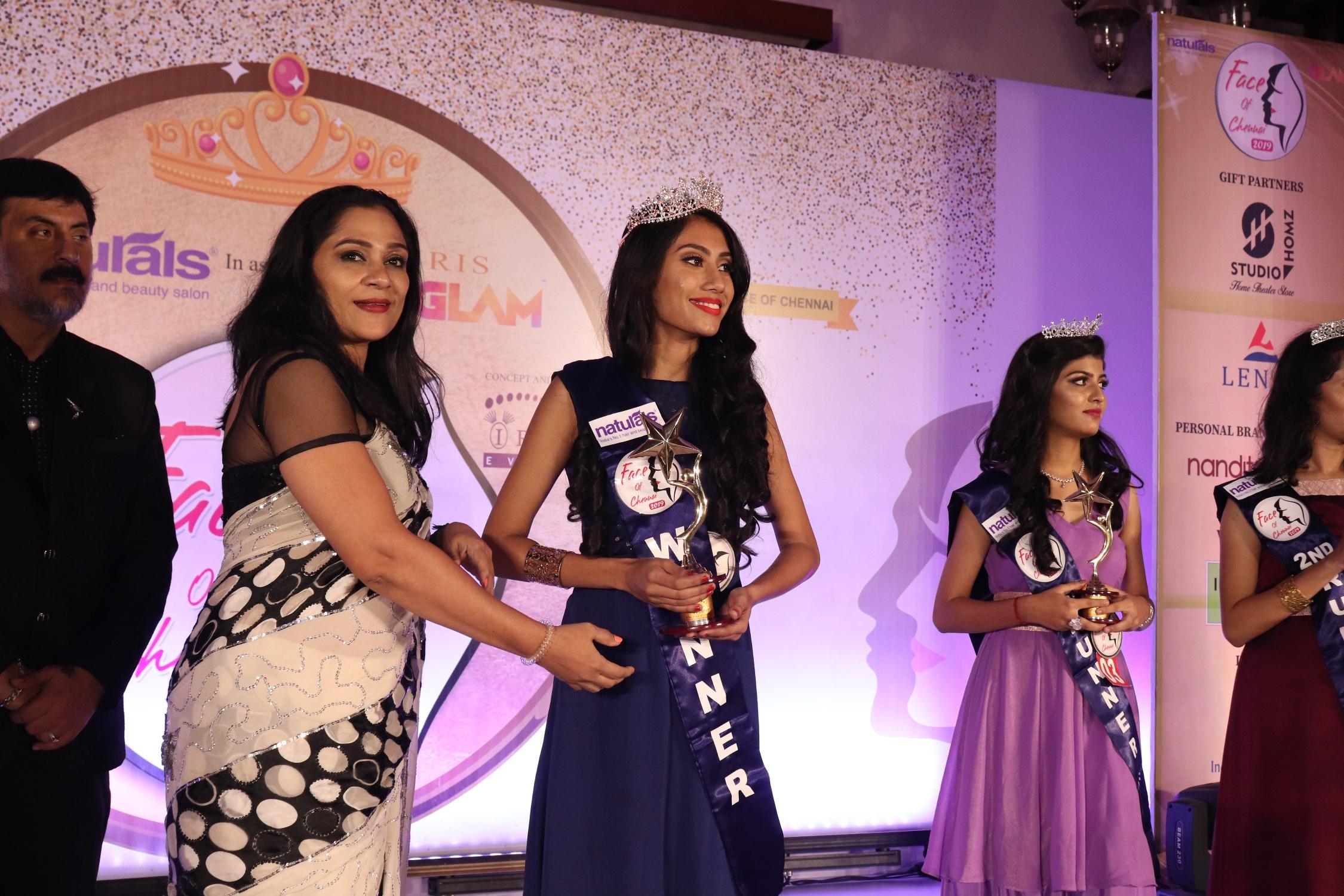IRIS MISS FACE OF CHENNAI Winner NIRJA