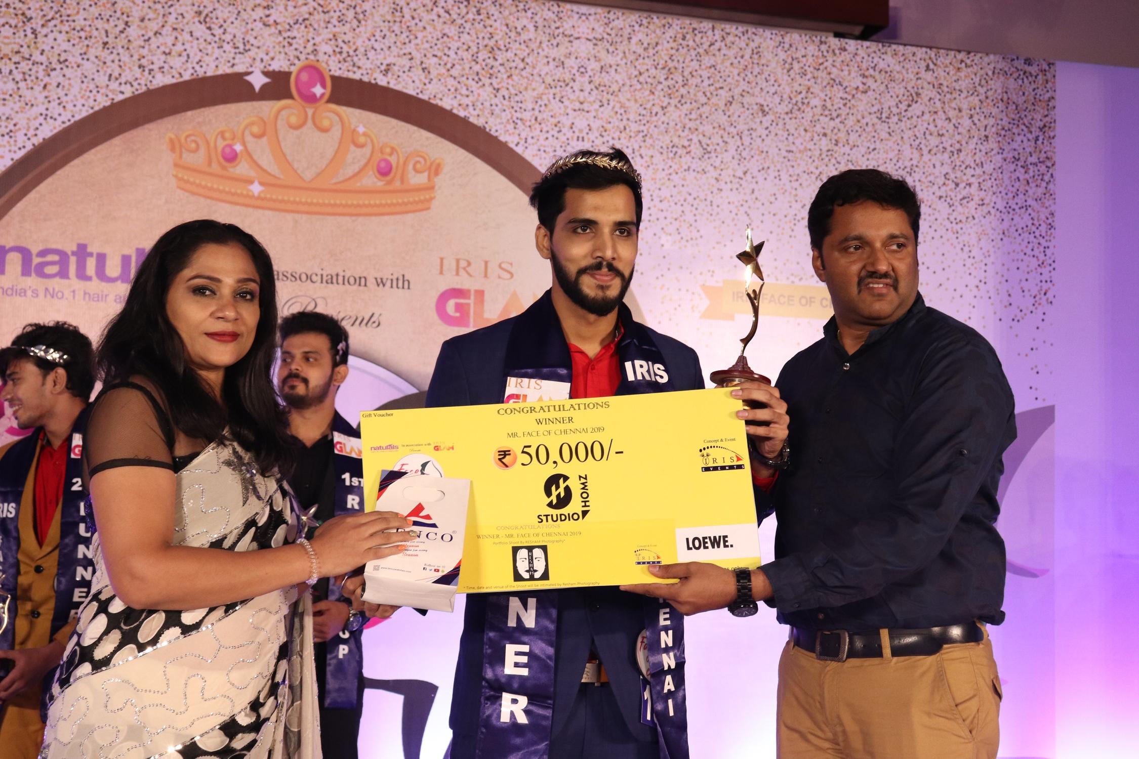 Iris Face of Chennai winner Mohamed