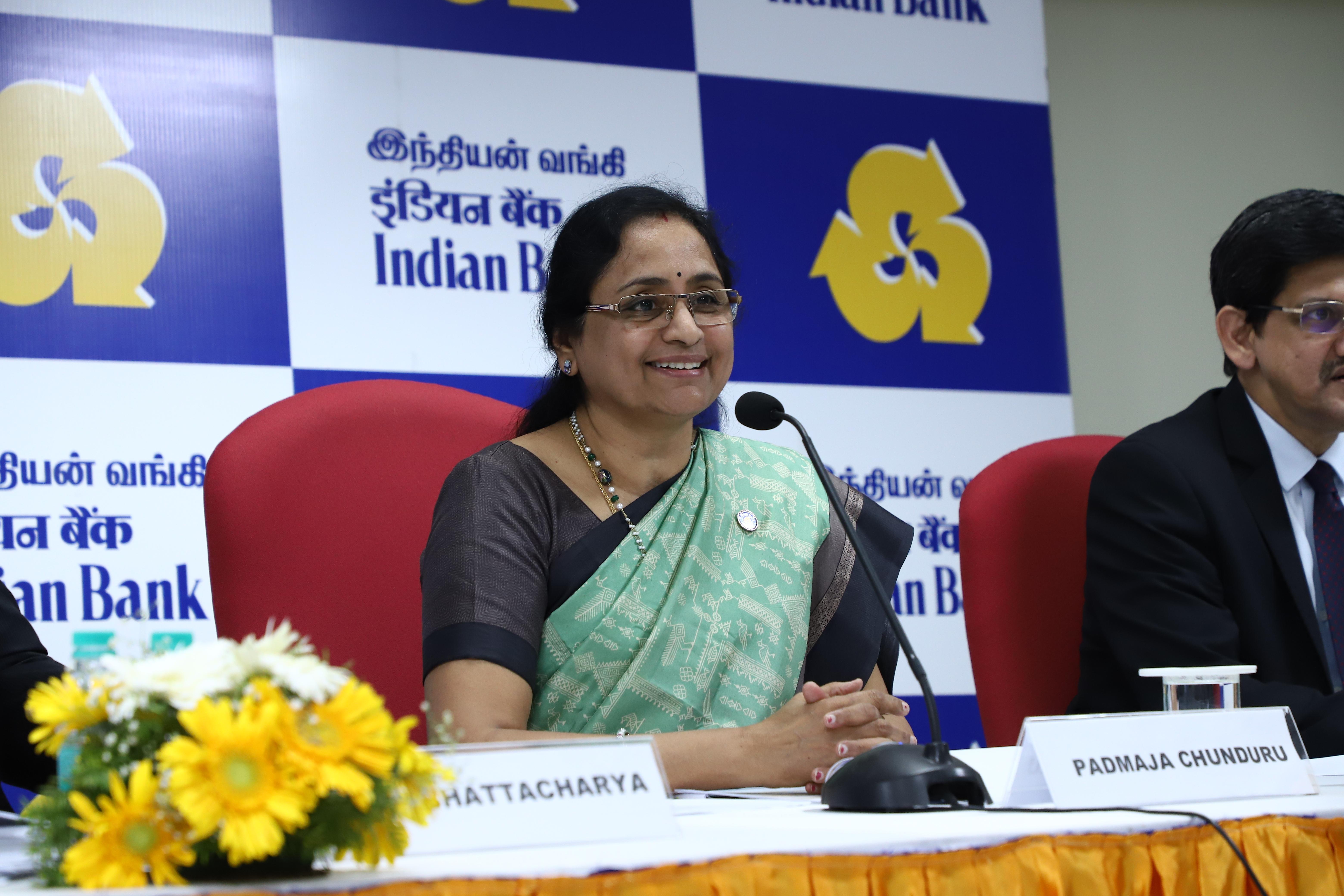 Ms. Padmaja Chunduru, MD & CEO of Indian Bank