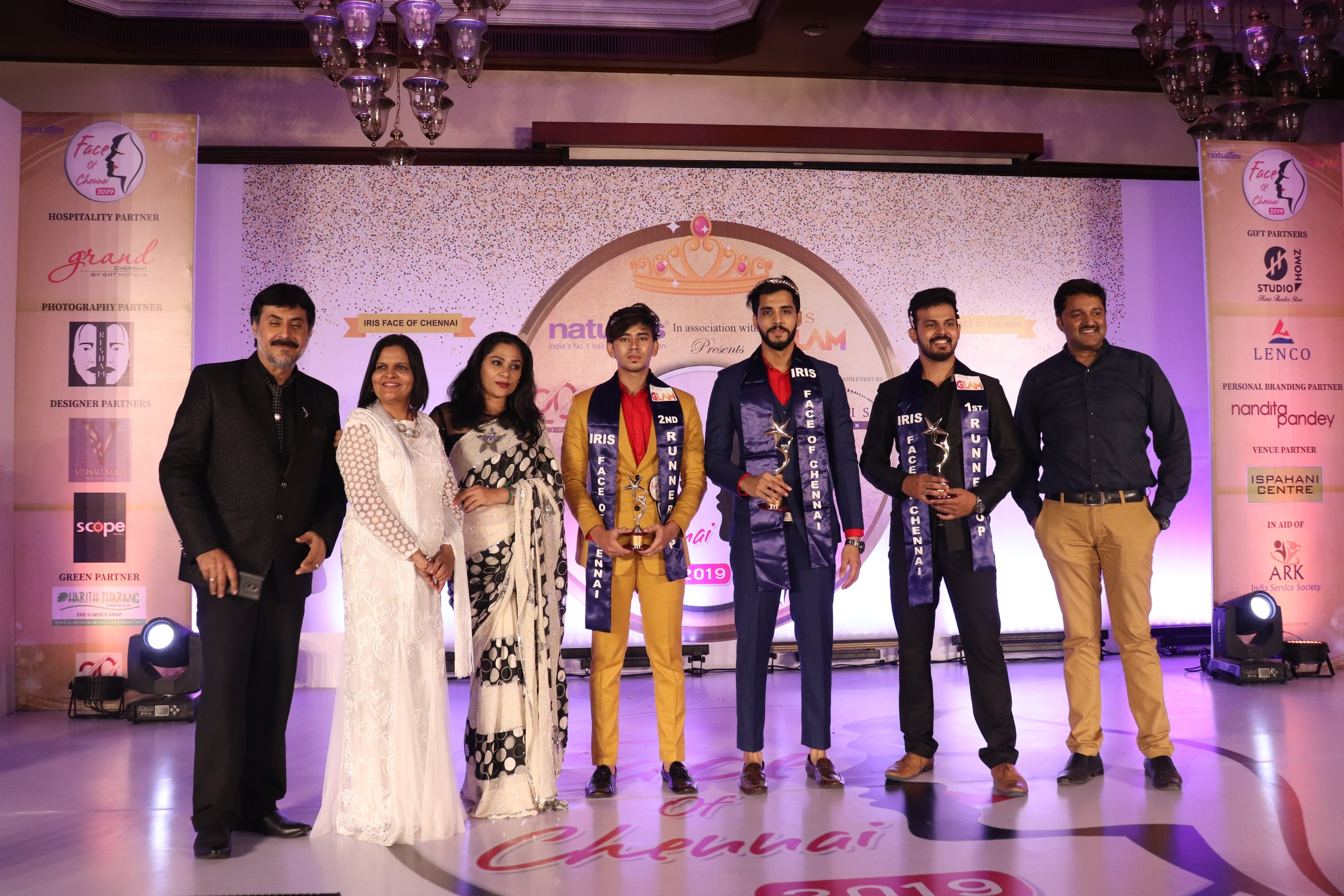 NATURALS FACE OF CHENNAI WINNERS WITH GUESTS